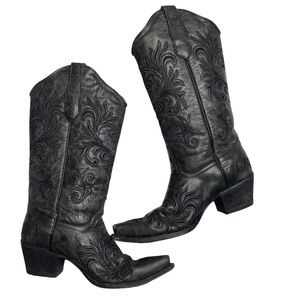 CIRCLE G CORRAL Filigree Snip Toe Western Boots